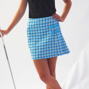 Women's Golf Apparel Classic Kilt Butlers Blue