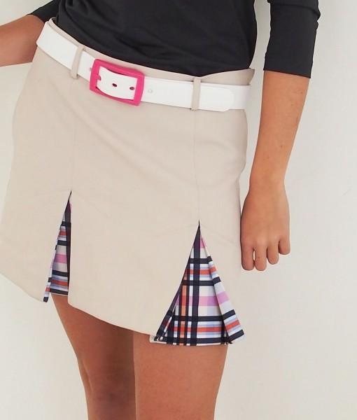 Women's Golf Apparel Hobbs Skirt Sadlers Check