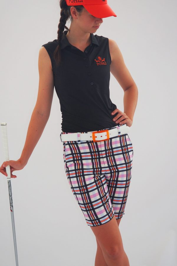 Women's Golf Apparel Kingston Shorts Sadlers Check