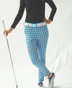 Women's Golf Apparel Milton Pant Blue Check