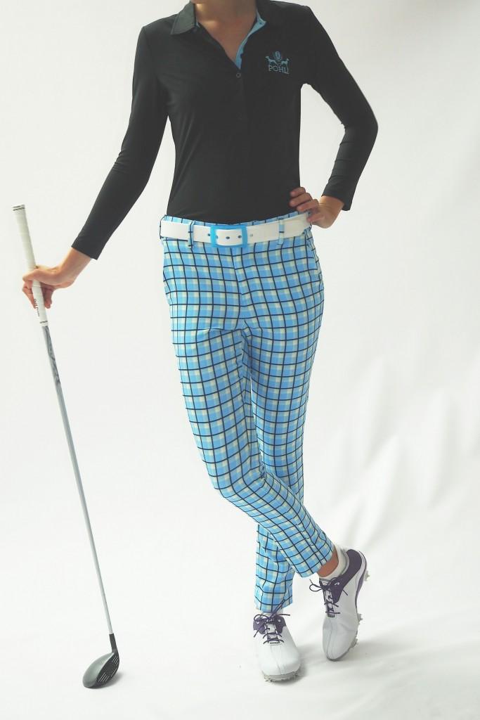 Pohli Women's Golf Apparel Milton Pant Butlers Blue