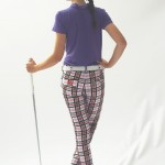 Women's Golf Apparel Milton Pant Sadler's Check
