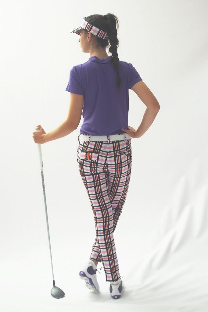 Women's Golf Apparel Milton Pant Sadler's Check