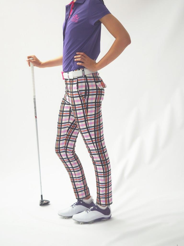 Women's Golf Apparel Milton Sadler Check