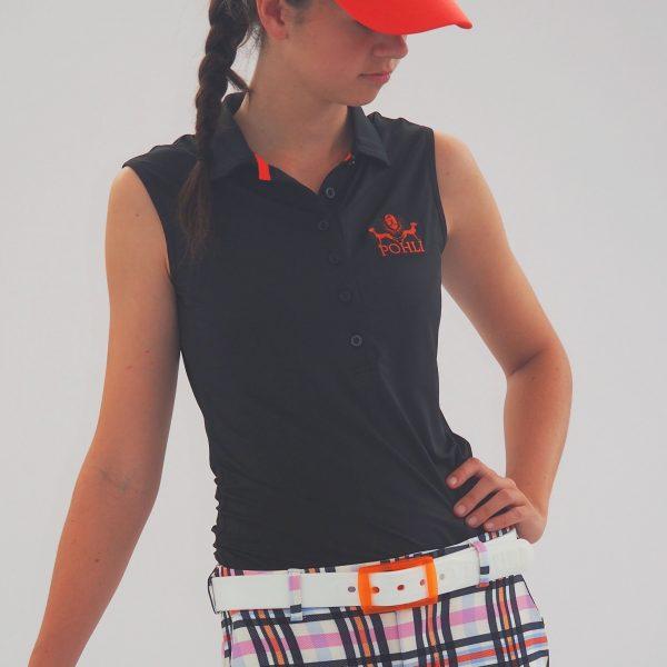 Women's Golf Apparel - Sleeveless Orange Top