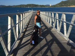 Women's golf holidays, golf holidays Australia Whitsundays, Women's golf wear, women's golf skirt, women's golf apparel.